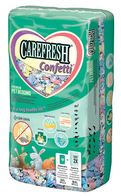 Carefresh Confetti Premium Dust Free Pet Bedding Safe and Earth Friendly 10L