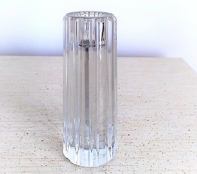 NEW TIFFANY & Co. Signed Crystal Glass Candlestick Candle Holder No Box Germany