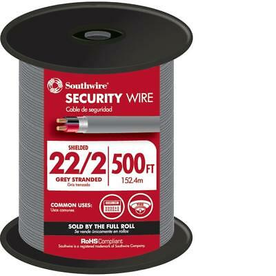 Southwire 500 ft. 22-2 Gray Stranded CL3R Shielded Security Wire