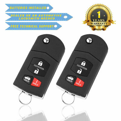 2 For 2010 2011 2012 2013 Mazda 3 Keyless Entry Remote Car Key Fob Replacement