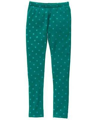 NWT Gymboree Warm and Fuzzy Green Leggings Girls Enchanted Winter4,5/6,7/8,10/12