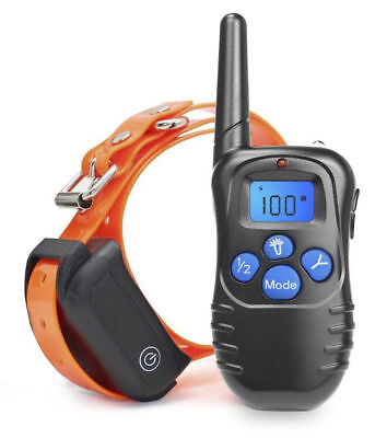 300m Waterproof Rechargeable Dog Training Collar Electric Shock Collar w/ Remote