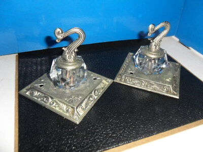 "(2) Vintage Ceiling Hooks Plants Light Wire GIM 3094 ""1968"" Cut Glass Crystal"
