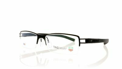 TAG Heuer Track S Semi Rimmed TH7621 001 Black/Black Size 53mm Eyeglasses