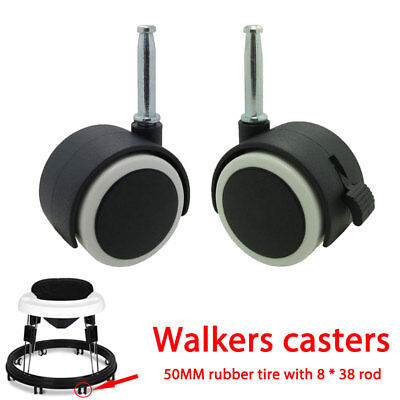 Swivel Castors Strongly Agile Alloy Table Baby Walker Baby Carriage Hardwood