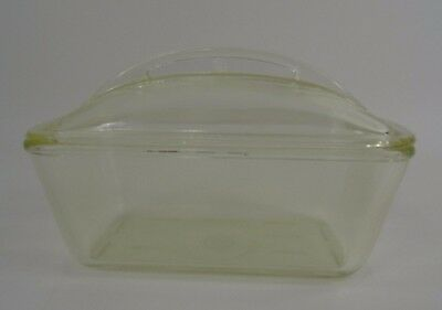 Vintage WESTINGHOUSE Clear Glass Bread Meat Loaf Refrigerator Pan Domed Lid