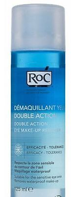 2 x RoC Double Action Eye Make-Up Remover 125mL NEW