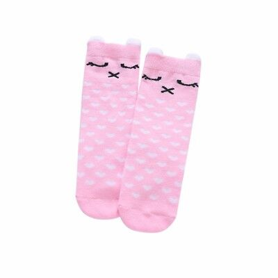 Pink Size M Cute Girl Animal Printed Soft Ankle Socks Toddler Cute Ruffle Socks
