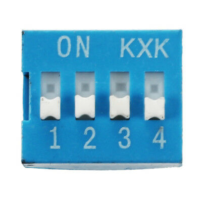 10 Pcs 2 Row 8 Pin 4P Positions 2.54mm Pitch DIP Switch Blue