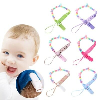 Baby Nipple Chain Clip Beads Strap Pacifier Holder Circle Feeding Infant Toddler