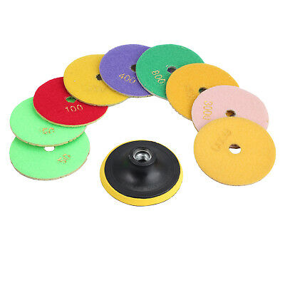 10pcs 4 Inch Wet Dry Diamond Polishing Pads Set Kit Granite Marble Concrete