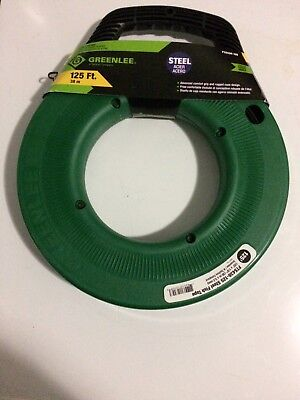 GREENLEE FTS438-125 Fish Tape, 1/8 In x 125 ft, Steel