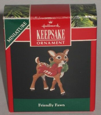 Hallmark Keepsake Miniature Ornament Friendly Fawn Deer