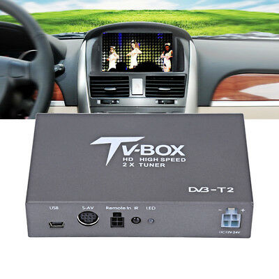 HD 1080P DVB-T2 Car Mobile Digital Analog TV Box Receiver HDMI 2 Antenna Tuner