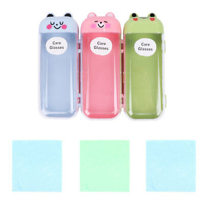 Cute Animal Glasses Box Eyeglasses Lens Case Hard Protector Plastic Optical Girl