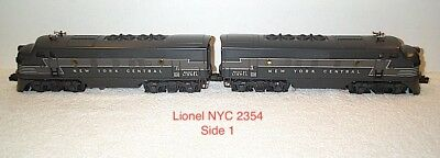 Lionel Postwar 2354 F-3 New York Central F3 AA's in Exceptional Condition!!