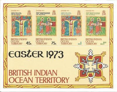 British Indian Ocean Territory  BIOT  1973  Easter  UMM  MNH  MS Miniature Sheet