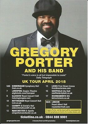 Gregory Porter       UK Concert Tour       2018       Promo Flyer / Handbill x 3