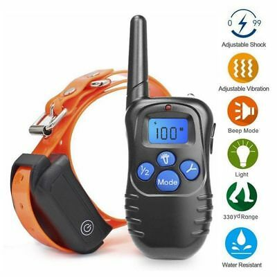 Waterproof IP67 Rechargeable Electric E-Collar 300m Remote Dog Training Collar
