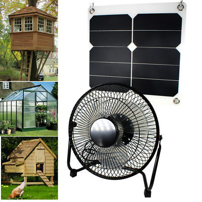 Solar Powered Ventilator for Chicken House Greenhouse RV Car Portable Fan