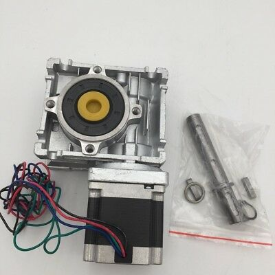 Nema23 Worm Gearbox 1.1Nm Stepper Motor L56mm 7.5:1 Speed Reducer CNC Router