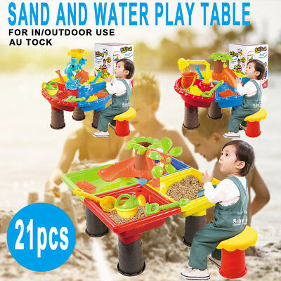 Kids Beach Sand and Water Table Toddler Children Activity Play Sandpit Toy Set A