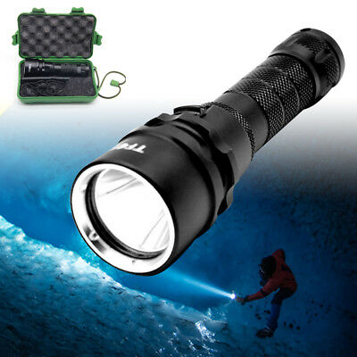 Long Range Tactical Torch High Power Rechargeable LED Flashlight Kit 1000 Lumens
