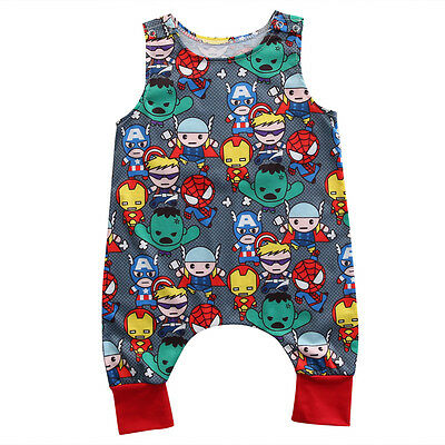 Super Heroes Infant Baby Girls Romper Bodysuit Jumpsuit Playsuit Clothes Outfits