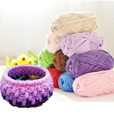 Knitting Blanket Basket Rug Wool Yarn DIY Crafts Crochet Mat Elastic Cloth Rakis