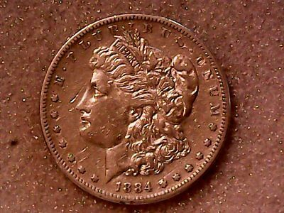 1884 S Morgan Silver Dollar - KEY DATE - High Grade - Rare