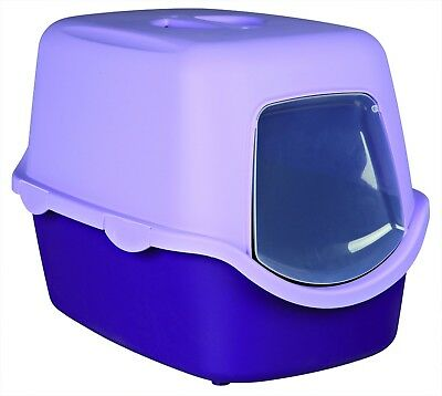 Trixie Vico Cat Litter Tray with Dome, 40 x 40 x 56 cm, Purple/Lilac