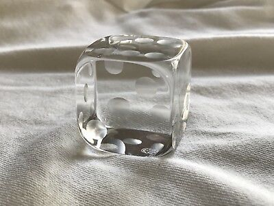 FLAWLESS Exquisite BACCARAT France Glass Crystal DIE DICE Figurine Paperweight