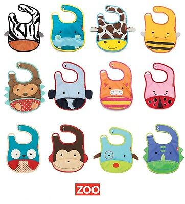 Skip Hop Zoo Tuck-Away Baby Bib with Food Catcher Pocket