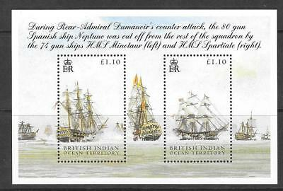 British Indian Ocean Terr Sgms325 2005 Battle Of Trafalgar  Mnh