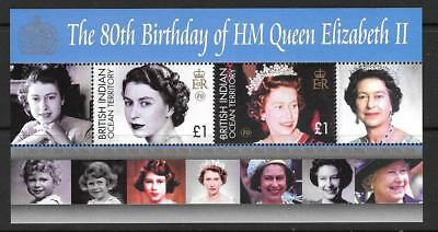 BRITISH INDIAN OCEAN TERR SGMS352 2006 80th BIRTHDAY OF QUEEN ELIZABETH   MNH