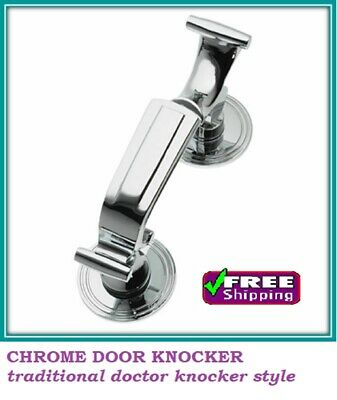 CHROME FRONT DOOR DR KNOCKER LARGE HEAVY DUTY Traditional STYLE D30
