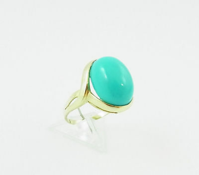 Ring in Gold 585 mit Türkis Cabochon RW 56 (D646)