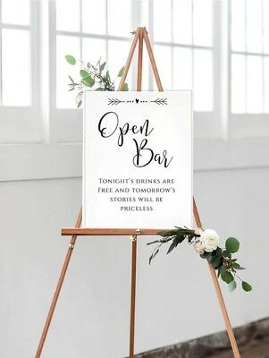 A3 Open Bar Wedding/Birthday/Event sign -encourage guests to enjoy themselves