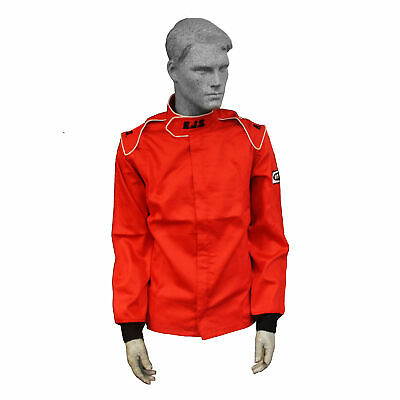 Fire Suit Sfi 3-2A/1 Jacket Size 2X Xxl Red Rjs Racing Elite Road Course Racing