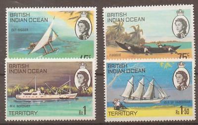 British Indian Ocean Terr Sg32/5 1969 Ships Of The Islands  Mnh