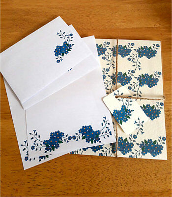 Forget me not Letter Writing Paper and Envelopes Stationery Set, Penpal Gift Set