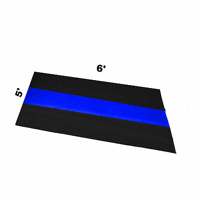 Garage Motorcycle Mat 5' X 6' The Thin Blue Line Police Motorman Mc Traffic Unit
