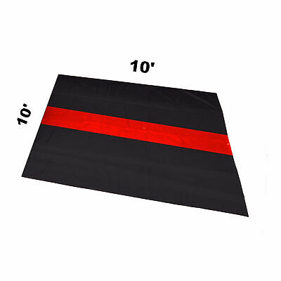 The Thin Red Line Car Garage Mat 10' X 10'  Fire Rescue Fighter First Responder