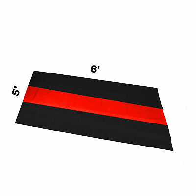 The Thin Red Line Car Garage Mat 5' X 6' Fire Rescue Fighter First Responder