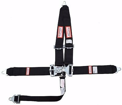 "Racerdirect.net  3"" Sfi 16.1 Latch & Link 5 Point Racing Belt Black"