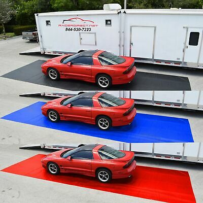 "Racerdirect.net New Racing Pit Mat Black 10' X 20"" Pitmat Black Blue Red"
