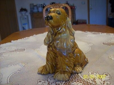 Royal Heager Vintage Porcelain Ceramic Large Golden Cocker Spaniel Dog Figurine