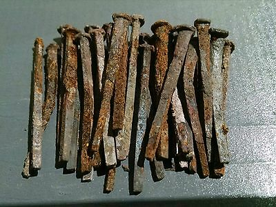 "Vintage Square head nails - 1-1/2"" length - (lot of 30pcs)"