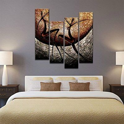 Hand Oil Painting Contemporary Wall Art Canvas Framed Abstract Home Decor Africa