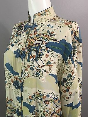 (M)  Robe  Vintage  In Stunning Colors Made In Japan                 Euc